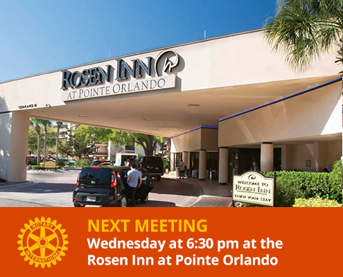 Rotary Club of International Drive meets at the Rosen Inn Pointe Orlando