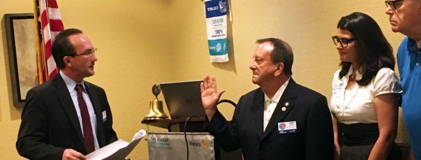 New Club President and Board Installed for 2018-2019
