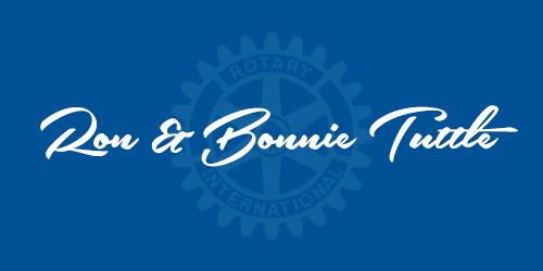 Ron & Bonnie Tuttle - Sponsors